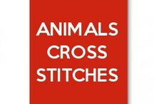 Animals cross stitches