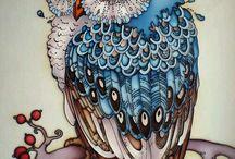 coruja desenho