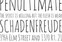 Fun Fonts / Fontteja