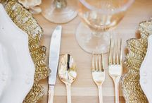 Gold / A board dedicated to all things gold from colour schemes to make-up styles and stunning reception decor!