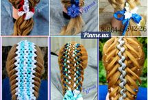 Braids with ribbons