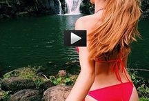 Behind the scenes !!! Hot actress swims naked !