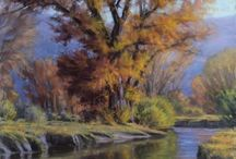 Countryside paintings, rivers and nature. (Not my paintings)