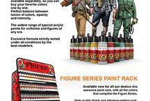Figure paints & Figure series paint rack / www.ak-interactive.com
