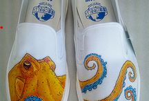 Ideashoes / Handpaintend or accessorized