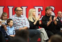 2015 Dulles Middle School Winter Belt Ceremony / The Kickstart Kids program in Dulles Middle School celebrate their winter belt ceremony with special guest, Founders Chuck and Gena Norris.