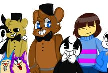 Tattletail ~ Bendy and the Ink machine~ Fnaf~Fnac~ Undertale characters
