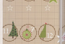 Borduurpatronen  kerst