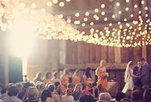 """Lights that make you wanna say """"I do!"""" / Clearly, I love strings of lights and paper lanterns. I can't help it! / by Priya Ollapally"""