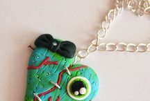 My polmyer clay creations - Zombie Collection / Here are some freaky polymer clay jewelleries, made by me. :)