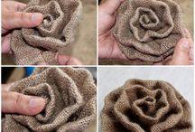 material flowers.