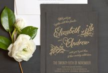Wedding Invite Inspiration / by Rebecca Whitworth