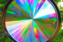 """Rainbow Suncatchers / """"COLOR IS TO THE EYES WHAT MUSIC IS TO THE EARS"""" Transforms Light Into Living Color...Just Hang'em In A Sunny Window!!"""