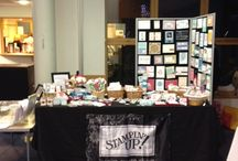 Stampin up craft fairs / Ideas for craft tables