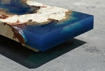 Alexander Chapelin / Дизайнер Александр Чапелин (Alexander Chapelin) создает из смолы и натурального камня настоящие шедевры. Его столики выглядят точь-в-точь как островки, затерявшиеся в океане. Последняя работа мастера ― маленькая копия острова Святого Мартина в Карибском море.