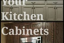Rethunk Junk by Laura - Cabinets / Use Rethunk Junk paint to transform you kitchen cabinets or bathroom vanities!  No Sanding, No Priming, No Waxing!  Simply Paint.  Use Tuff Top for extra durability!