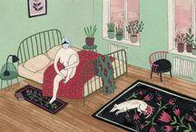 Bedroom illustrations