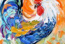 kitchen / rooster art / by Nicole Wetzel