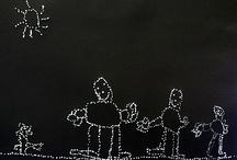 3.lk piirustus / sommittelu / Vuoden teemana mielikuvitus  - erilaiset piirtimet monipuolisesti - sommittelu (erilainen pinta, erilainen viiva, piste) - Betty Edwards - liike (rytmi, sidottu / vapaa) - kappale toisen takaa (kolmiulotteisuus)