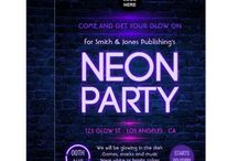 Corporate Neon Glow Party Package / One of the hottest themes for Corporate Parties. Customizable to your event specifics.