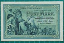 """German Banknotes / This board is for the banknotes produced by Germany. It includes the monies from the hyper inflation period or """"Notgeld"""" as it was named."""