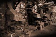 Blacksmith shops.