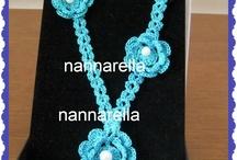 i miei gioielli / realizzati da me con  varie tecniche / by Anna