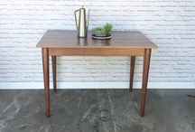 Our work - Tables / Solid wood pieces inspired by the straight lines and warmth of mid century modern furniture. We make handcrafted pieces influenced by Danish Modern style, but also heavily inspired by the vintage, minimalist aesthetic of downtown New York and Brooklyn. Made with love in NYC.