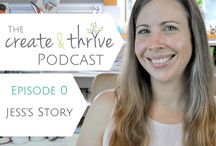Create & Thrive Podcast / Learn how to turn your handmade hobby into a thriving business with the Create & Thrive podcast!