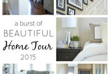 Home tours for inspiration / Decorating