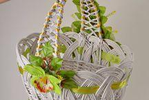 Košíky, papírové pletení