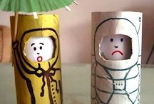CARDBOARD TUBE CRAFTS / Cardboard tube craft ideas and inspiration for inexpensive crafting fun!  Fun art projects for all seasons using toilet paper tubes!  TP roll fun for everyone! / by Vanessa @pre-kpages.com