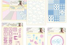 Little Angel: Sara Davies Signature Collection / Personally designed by Sara Davies, the adorable new Little Angel collection is perfect for welcoming little ones to the world. Featuring soft pastel tones and neutral patterns, it is a complete papercrafting collection suitable for both baby boys and girls, so you'll have everything you need to create special cards and keepsakes for every precious new arrival throughout the year.