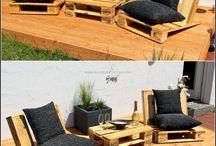 palety fotele ławki