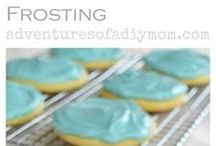 soft sugar cookies w/cream cheese frosting