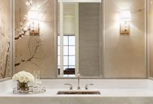 Bathroom Bliss / A collection of beautiful powder rooms designed by Rivera Fine Homes. www.riverahomes.com