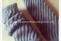 Guêtres tricot