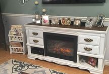 Fireplace entertainment mantle