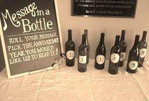 wine bottle message