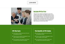 payment protection landing page design