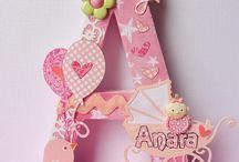 Letras decoradas cumpleaños