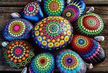 Stone Mandalas, Dot Art & Painting