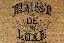 French vintage graphics