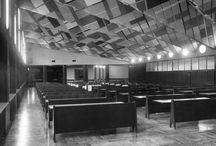 MENSA PENSIONATO UNIVERSITA' BOCCONI / Milano – 1955 Architettura: Giovanni Muzio Strutture: Aldo Favini