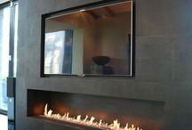 Tv + calefacción decorativa