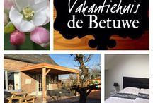 Vakantiehuis de Betuwe / Prachtige vakantiewoning in het hartje van de Betuwe! Heerlijk ontspannen in de natuur tussen de prachtige boomgaarden! www.vakantiehuisdebetuwe.nl