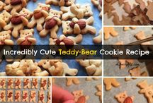 Cute teddy bear cookies