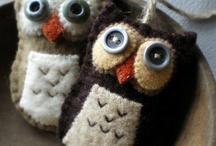 Felt crafts / Handmade items made from felt.
