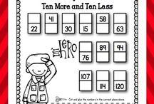 math 10 more/less