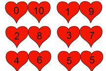 Rekenen:  verliefde harten
